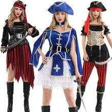 Kapitän pirates karibik fluch der karibik jack sparrow hut gürtel halloween kostüm erwachsene frauen cosplay pirate weibliche