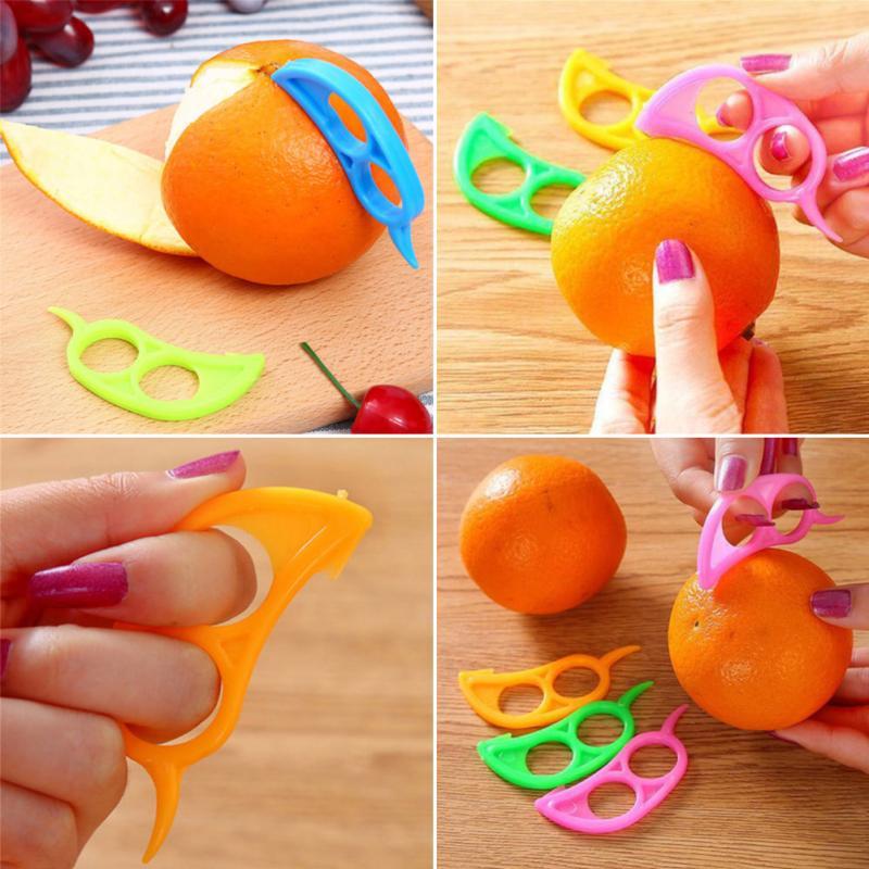 Fruit & Vegetable Tools Useful Plastic Orange Citrus Peeler Slicer Lemon Cutter Fruit Skin Remover Kitchen Tools & Gadgets