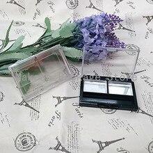 2 grids 50 stücke Leere Make-Up Lidschatten Pulver Kompakte Fall Make-Up DIY Werkzeug Kosmetische Verpackung Container Box mit sichtfenster