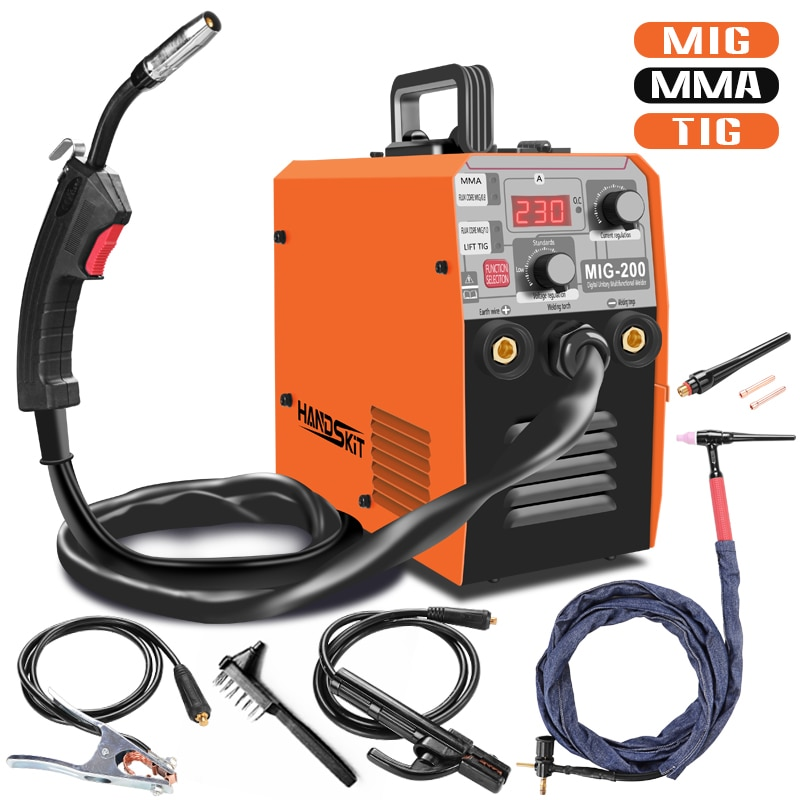 4 in1 MIG 200 MMA TIG Semi-automatic welding machine without gas 220V EU Electric MIG Welder Spot Welding Portable automatic