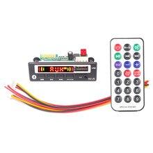 VICFINE MP3 WMA WAV décodeur carte 5V 12V Module Audio sans fil écran couleur AUX USB TF FM accessoires Auto Modification Audio