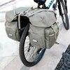 Nouveau 50L 1.35kg toile porte-vélo sac arrière support coffre vélo bagages siège arrière sacoche réflectivs cyclisme stockage deux sac