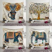 95cm*73cm Decorative Mandala Elephant Wall Hanging Tapestries Bohemian Macrame Wall Blanket Bedspread Home Decor Tapestry