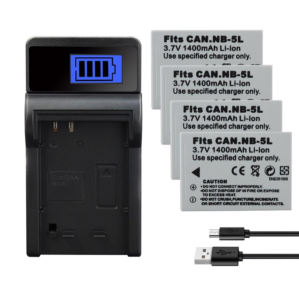 NB-5L NB 5L de 1400mAh de la batería para Canon SX200is SX210IS SX220HS SX230HS CB-2LXE disparó S100 S110 SD950 SD900 SD970 990 serie