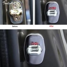 Tonlinker 4 шт. автомобильные стильные защитные наклейки из нержавеющей стали для дверей Citroen/DSPeugeot 3008/2008/308/408/508/301