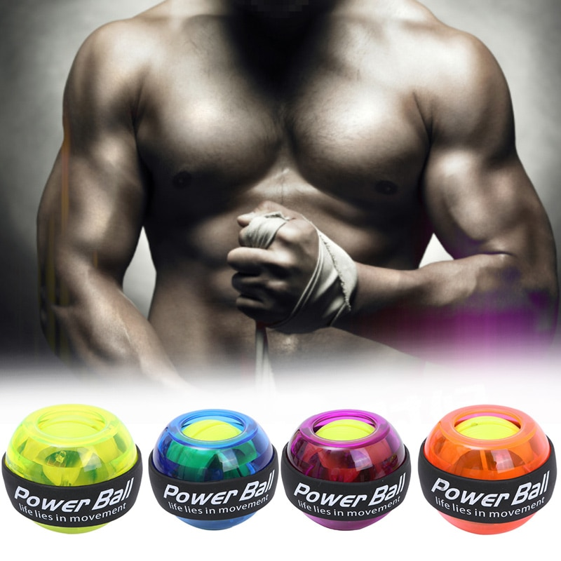 Bola de pulso led trainer relaxar gyroscope braço exercitador strengener pulso muscular bola de energia equipamentos fitness