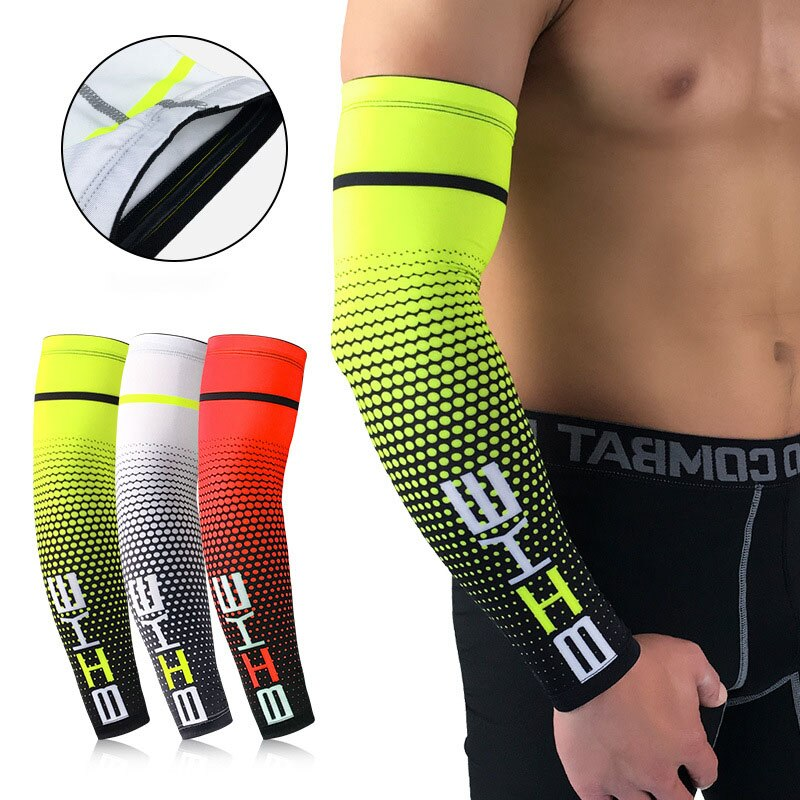 arsuxeo compression sleeves arm warmer running sleeves cycling sun uv protection for outdoor sport hiking ciclismo 1 pair 1PC Unisex Cooling Arm Sleeves Outdoor Sports Arm Compression Breathable Sleeve Cycling Running UV Sun Protection