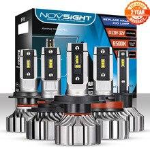 NOVSIGHT H4 LED Voiture Phares Ampoules H7 9005 HB3 9006 HB4 9012 H1 H3 H11 H8 H9 Mini Voiture Phares Automatiques 8000LM 6500K Dantibrouillard