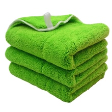 3 шт., плюшевые полотенца из микрофибры, 40 х30 см, г/м2