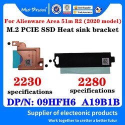 NEW original A19B1B 2230 M. Suporte Bracket Adaptador PCI-E SSD Para Dell Alienware Area 2 51m R2 Laptop Dissipador de calor de 2280 m2 SSD 09HFH6