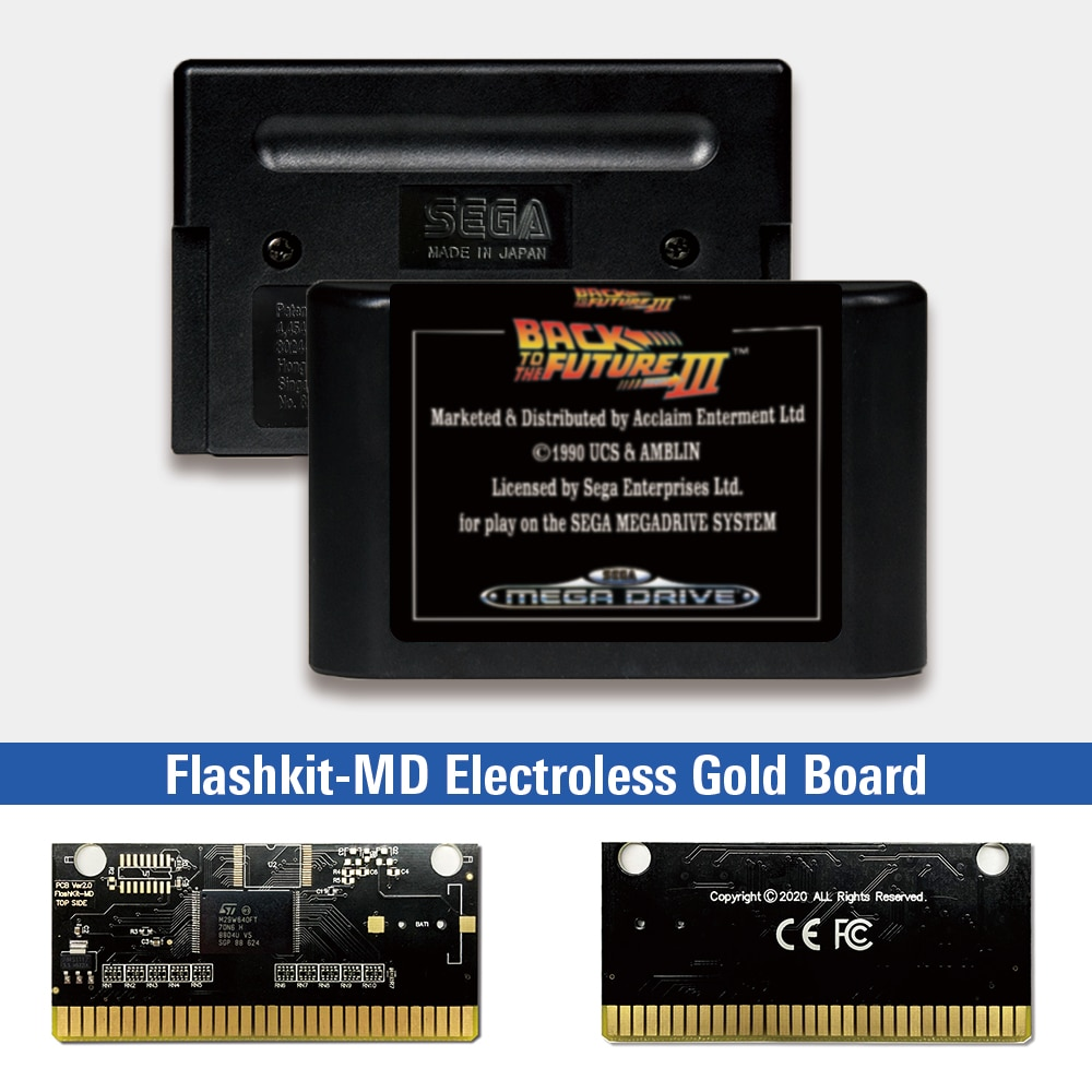 Volver al Futuro III - EUR etiqueta Flashkit MD químico oro de...