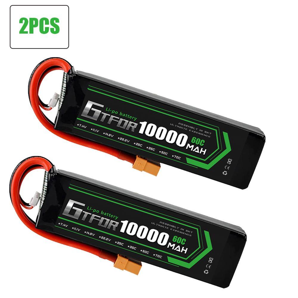 GTFDR 2 шт. батарея lipo 2S 3S 7,4 V 10000mah 8400 9300mah 110C 220C 130C 260C 60C 120C HV 3S 11,4 V 5200mah 20C для QRX350 RC автомобиля
