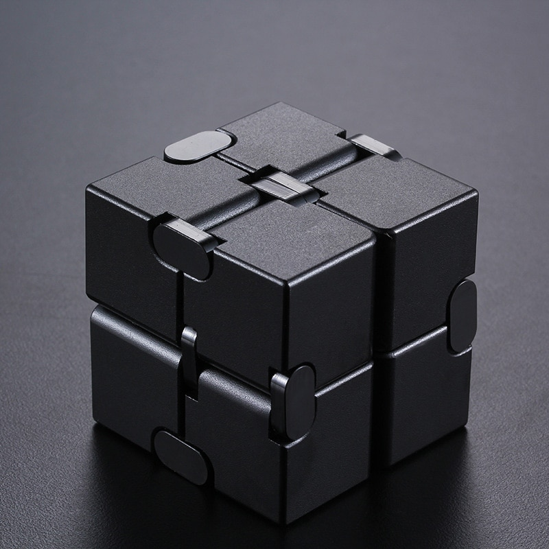 Semi-Metal Infinite Cube Durable Aluminum Alloy Stress Relief Toys Stress Relief Puzzle Toys For Adults And Children. enlarge
