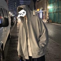 men comfy pure zip up hoodies autumn fleece hooded sweatshirt men hip hop hoodie for men classic hoody pullover tops white