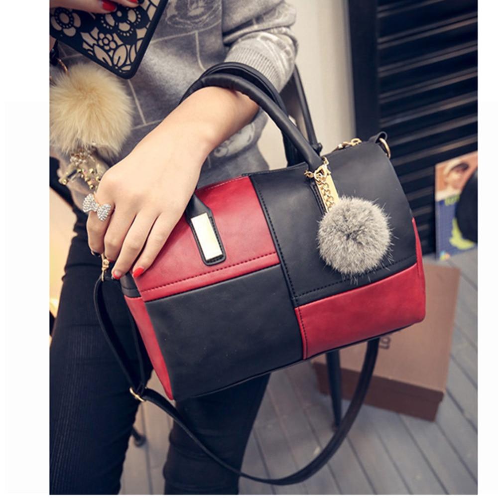 2020 Ladies Fashion Shoulder Bag PU Soft Leather Crossbody Bag Plaid Boston Women's Bag Handbag Bag Brand Design