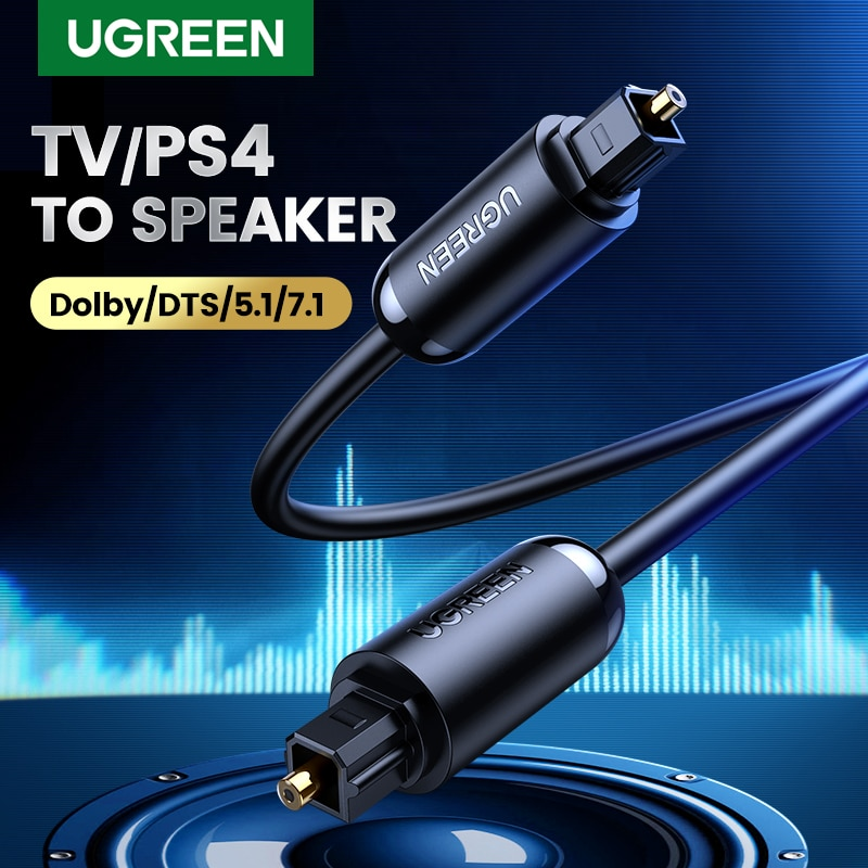 UGREEN Digital Optical Audio Cable Toslink 1m 3m SPDIF Coaxial Cable for Amplifiers Blu-ray Player X