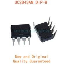10 PIÈCES UC2843AN DIP8 UC2843BN 2843AN DIP 2843 UC2843 UC2843A UC2843B 2843BN DIP-8 nouveau et original IC Chipset