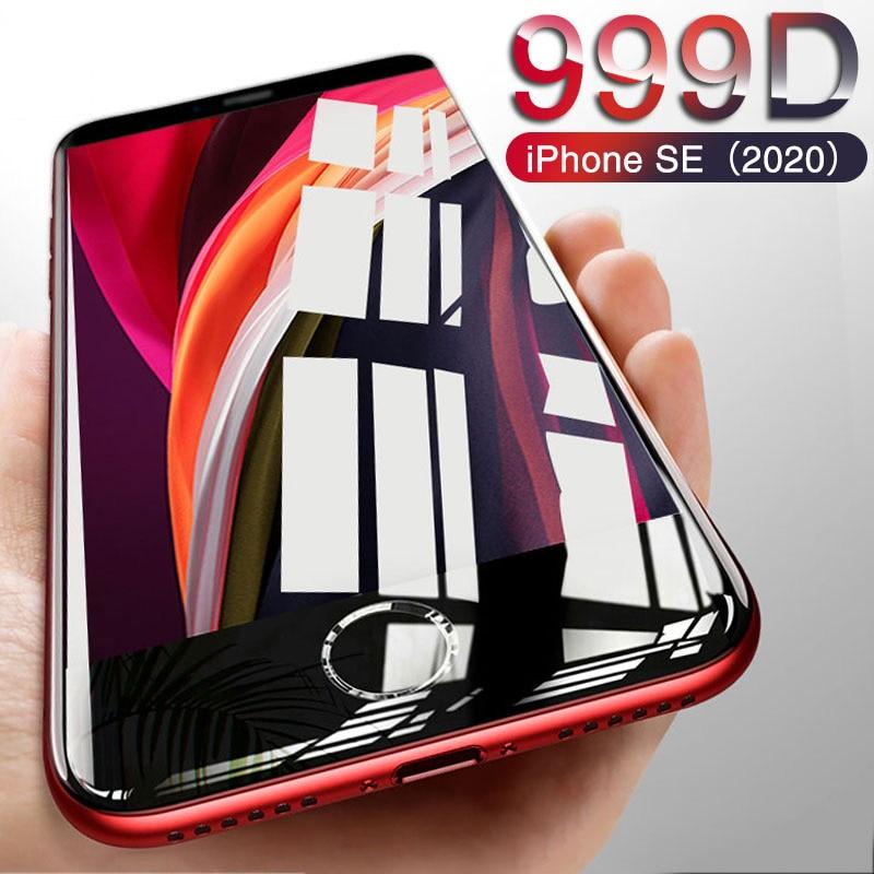 999D новое стекло для iPhone SE 2020 Защита экрана для iPhone 11 Pro X XR XS MAX 6 6S 7 8 Plus закаленное стекло на iphone SE 2020