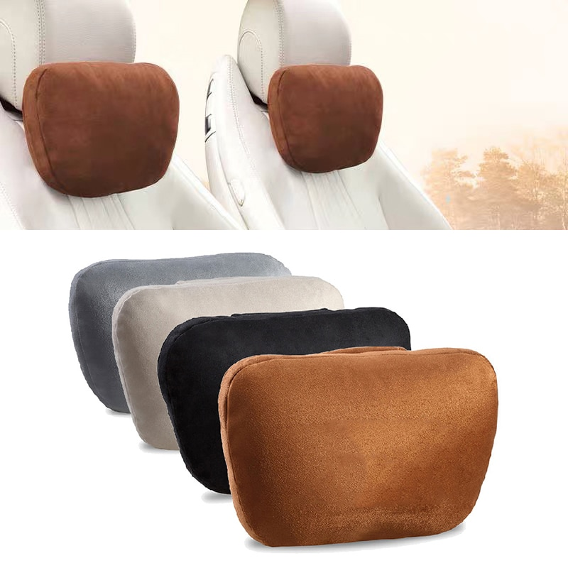 2 pçs auto ajustável encosto de cabeça s classe ultra macio travesseiro camurça tecido pescoço resto almofada para mercedes-benz maybach