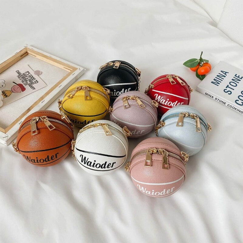 Children's Clutch Bag Cute Kids Mini Basketball Purse Crossbody Bags for Boys Girls Small Coin Wallet Handbag