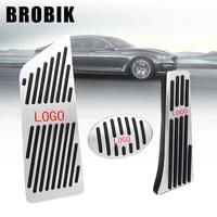 brobik foot rest pedal pads gas refit sticker accelerator brake for bmw 1 series 2 series2 series travel version4 series x1