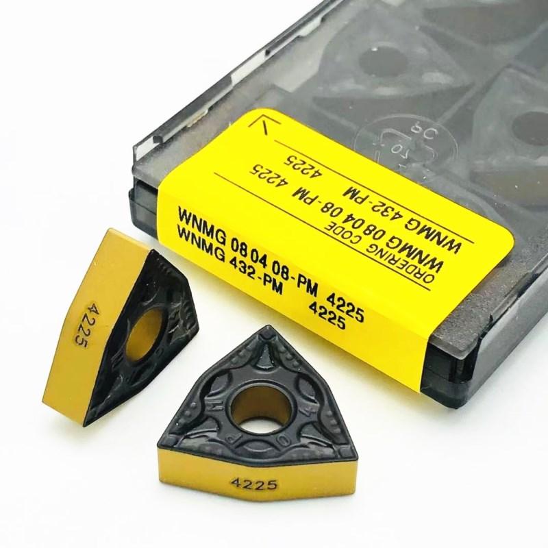 Carbide inserts WNMG080408 WNMG080404 PM 4225 High-quality new metal turning tools CNC machine tools turning tools turning tools 10pcs wnmg080408 pm 4025 forturning