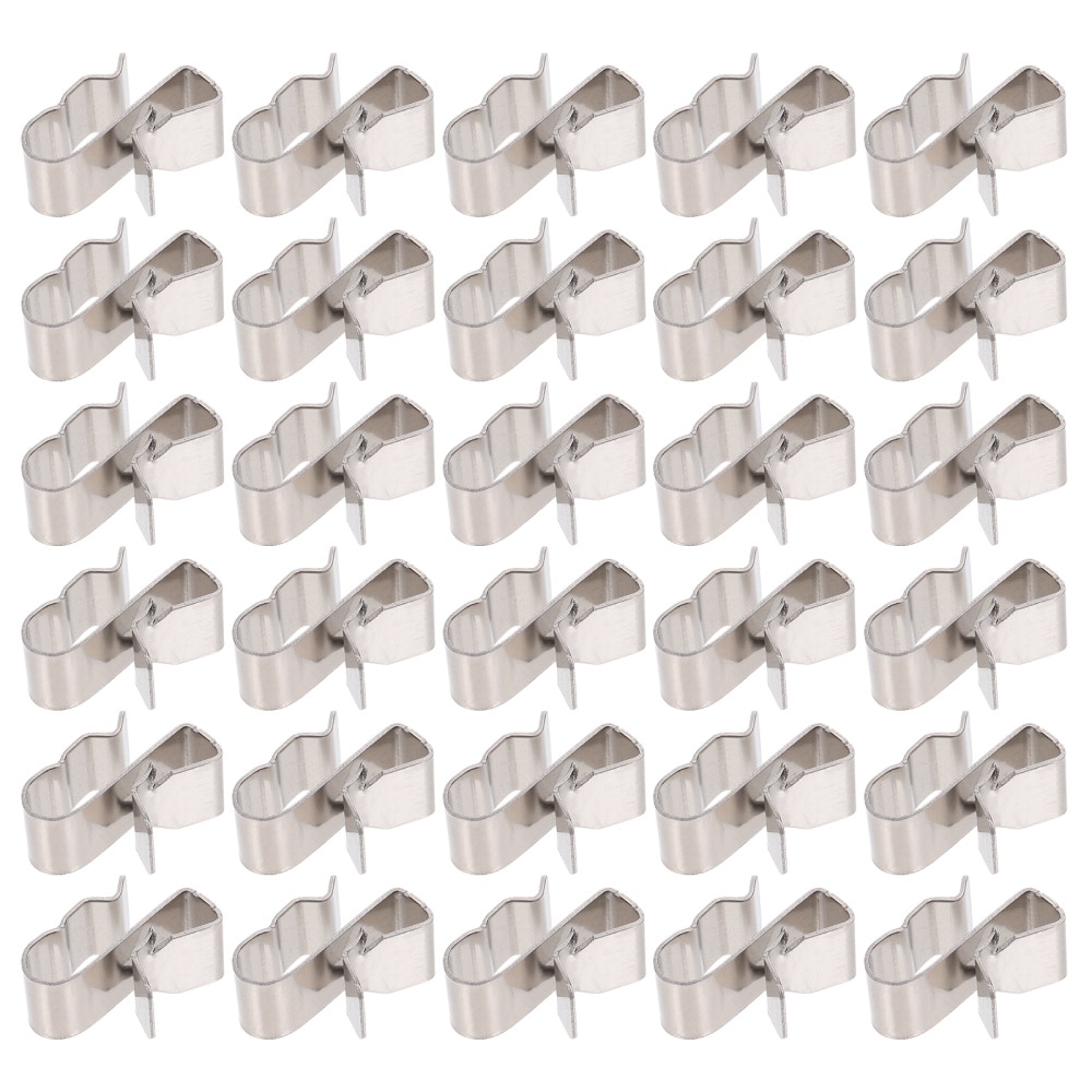 1 Set 30pcs Stainless Steel Solar Panel Cable Clips Trailer Wire Clips (Silver)