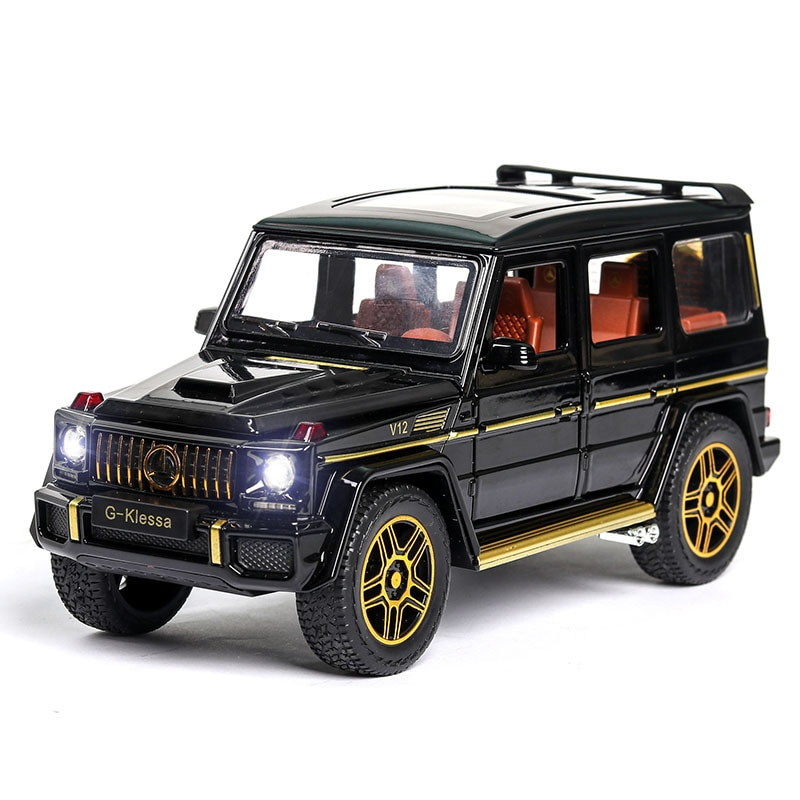 1:24 Toy Car Model Metal Wheels Simulation G65 Alloy Car Diecast Toy Vehicle Sound Light Pull Back Car Toys For Kids Gift CT0113 1 24 diecast car model metal toy vehicle suv alloy car wheels sound and light doors open pull back car boys toys cars kids gift