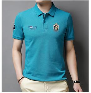 Polo Shirt Men's Fashion Luxury Horse Embroidery Solid Brand Polos Men's Summer High quality Short Sleeve Polos