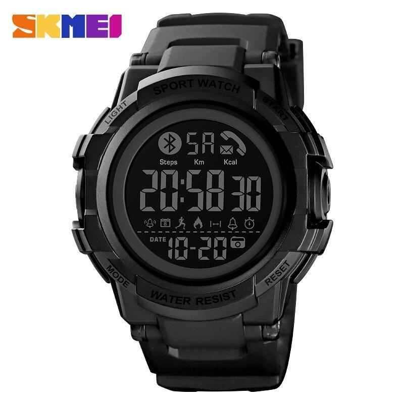 Reloj inteligente SKMEI para hombre, podómetro de lujo, reloj deportivo con calorías, aplicación de recordatorio de mensaje, reloj inteligente impermeable, reloj Masculino