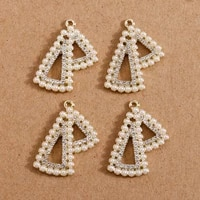 4pcs 2329mm crytal charms pendants for jewelry making necklaces drop earrings imitation pearl handmade diy craft accessories