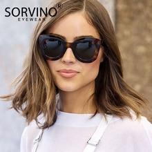 SORVINO 2020 rétro surdimensionné lunettes de soleil yeux de chat femmes de luxe marque concepteur 90s écaille de tortue Cateye lunettes de soleil nuances SP107