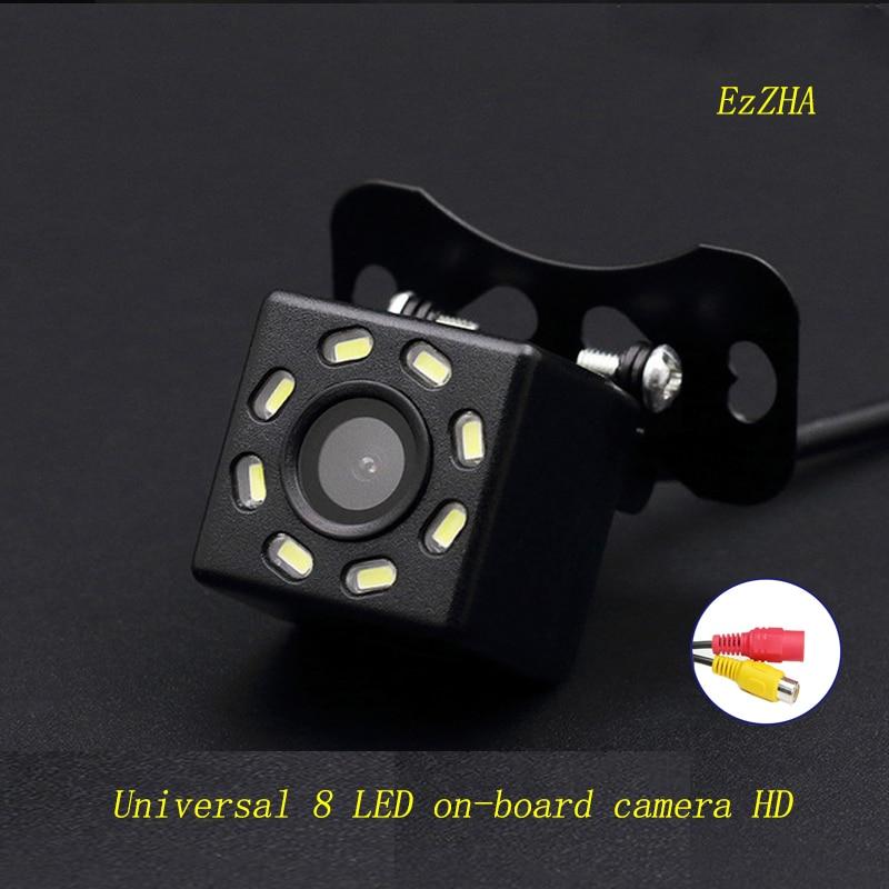 Универсальная автомобильная камера EzZHA, 8 светодиодный, HD CCD, ночное видение, Автомобильная камера заднего вида, 170 широкоугольная резервная ...