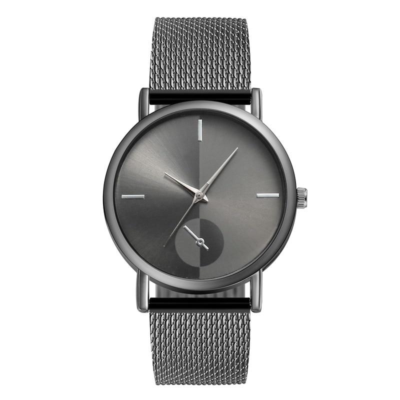 2021 new fashion PVC mesh belt men's quartz watch fashion 4 scale stitching color couple watch femal