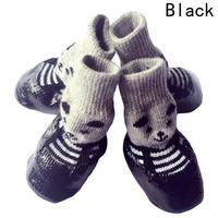 4 шт./компл., милые хлопковые резиновые ботинки для собак, водонепроницаемые Нескользящие зимние сапоги для собак, носки для щенков, больших ...