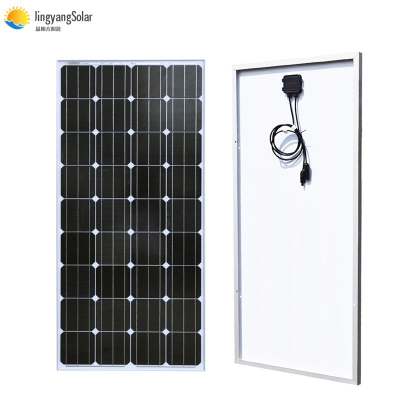Gran calidad, Kit de módulo de Panel Solar de cristal PV de 100w, célula Solar monocristalina, batería de 12V para techo de luz RV/casa