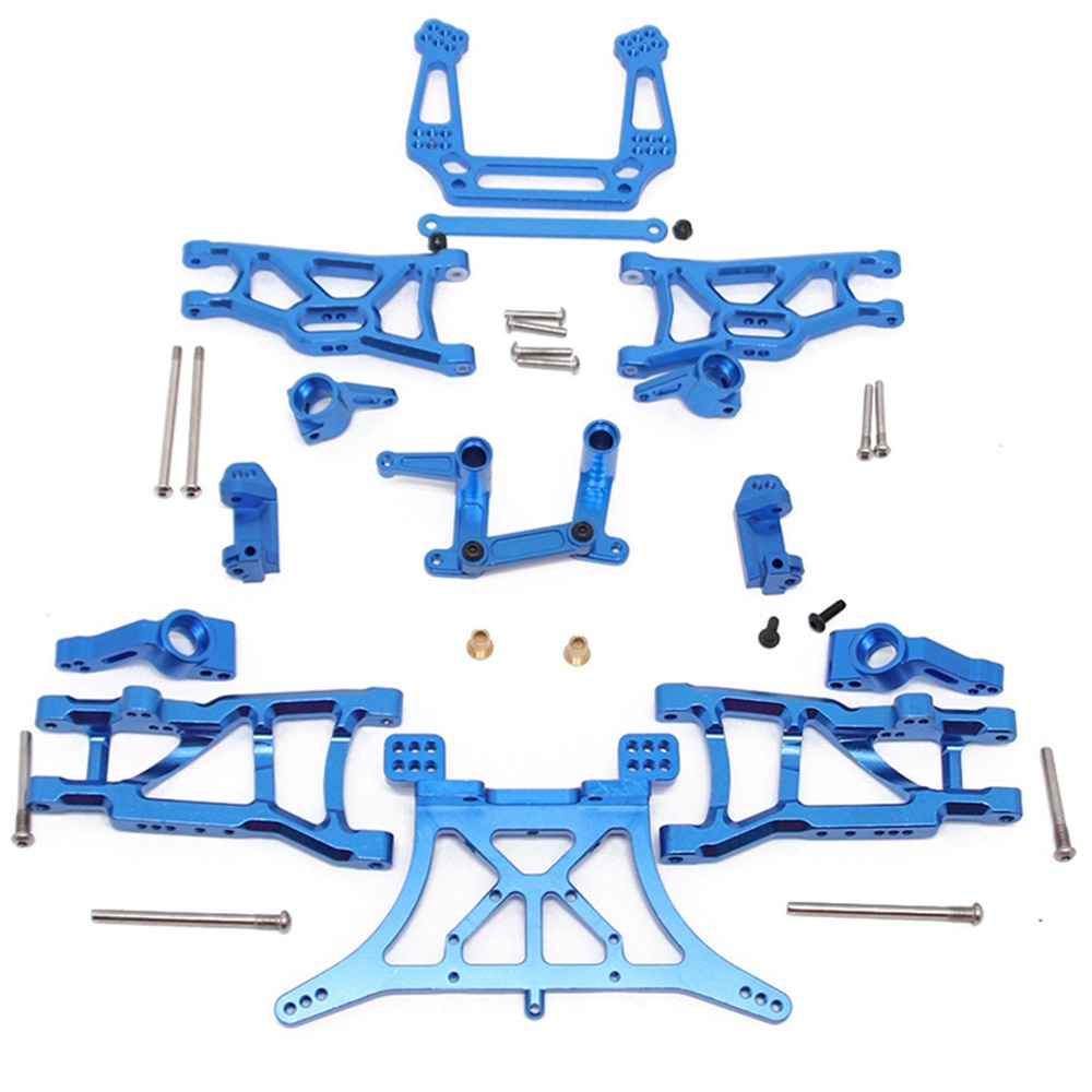1 set Aluminum Alloy Upgrade parts Seat C Steering Cup Swing Arm Steering Group Shock Absorber For 1/10 RC Car TRXXAS SLASH 2WD enlarge