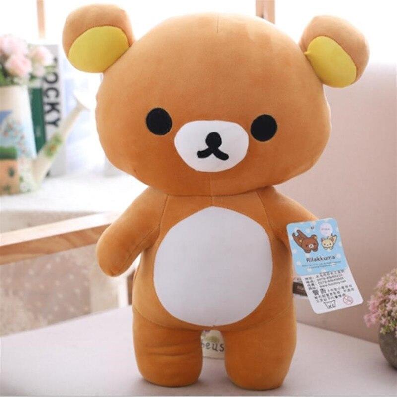 1pc 30/60cm venda quente kawaii tamanho grande marrom rilakkuma urso de pelúcia brinquedo macio pelúcia urso boneca