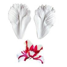 Perroquet tulipe pétale Veiner Silicone moule chocolat Fondant Gumpaste sucre argile fleur moule gâteau décoration outils M2118