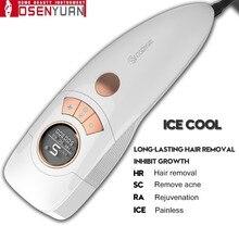 2020 Osenyuan 4in1 Icecool IPL Laser Hair Removal Permanent For Face Body Leg Bikini Electric Depiladora Laser Epilator