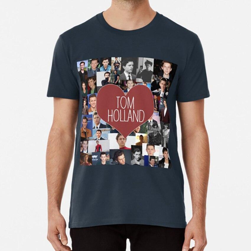 Me encanta Tom Holland Collage T camisa Tom Holland Actor famoso Collage me encanta Tom Holland