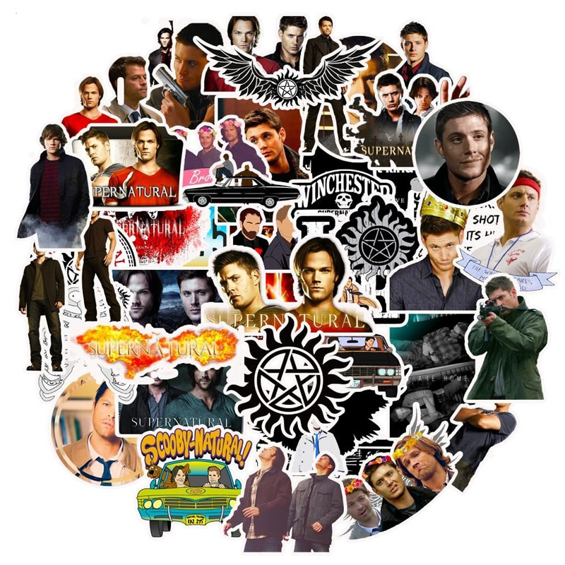 10/30/50pcs/pack Classic TV Show Supernatural Stickers For Motorcycle Notebook Computer Car DIY Children Toy Guitar Refrigerator