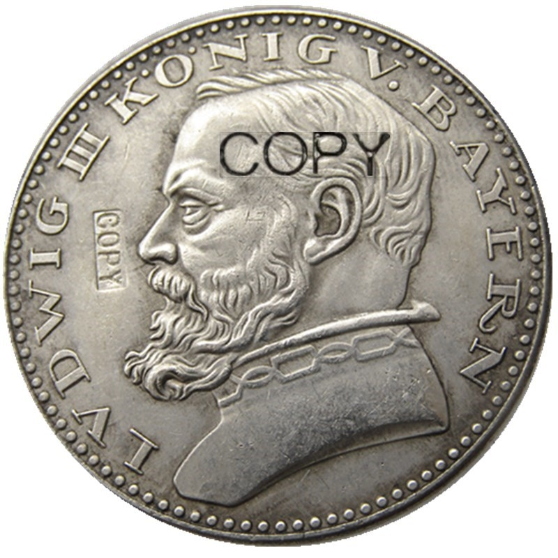 Modelo alemán 1913 CU, 5 marcas, ST alemán, Bavaria, Ludwig III, moneda...