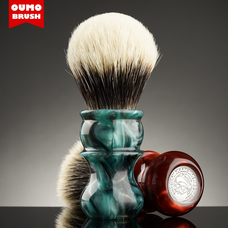 OUMO BRUSH - Ocean Venus badger shaving brush with Manchuria/ACE/SILK/HOOK/WT