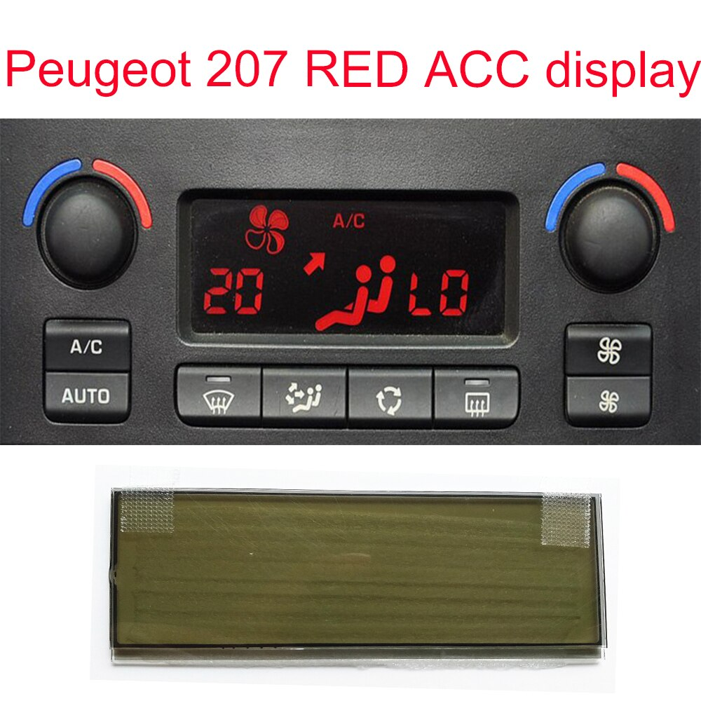 Car screen Air Conditioning Pixel Repair Air Conditioning ACC Information Monitors Screen for Peugeot 207 red led display