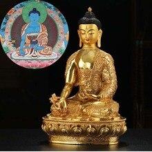 كبير بالجملة البوذية المورد آسيا تايلاند الهند حماية الأسرة مذبح الطب بوذا مذهب بوذا النحاس تمثال جيد