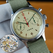 40mm China Aviation Chronograph Seagull Movement 1963 Mechanical Watch For Men Chronograph Sapphire