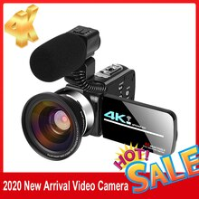 KOMERY 4K Video camcorder 48MP WIFI Live Streaming Vlogging For Youbute Landscape Touch Screen Night