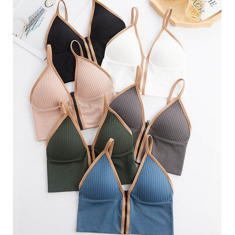 Bra Women Crop Top Tank Seamless Underwear Female Intimates Lingerie Padded Camisole Femme Fashion S