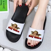 shoes for woman cute angel kid print 2021 women slippers harajuku cartoon women shoes comfortable indoor bedroom home shoes